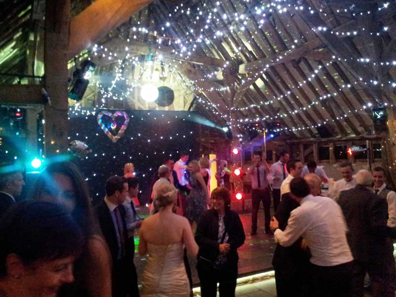 Wedding Disco Red barn